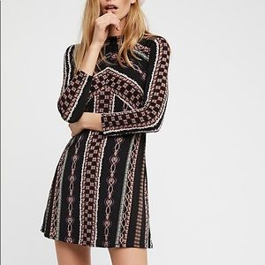Free People Print Dress Size Small
